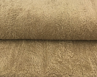 Cotton plush light brown by Westfalenstoffe