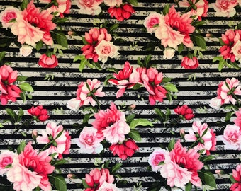 Summer Sweat / French Terry Stripe Roses Miss by Julie