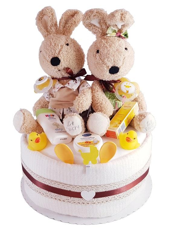 Windeltorte Zwillinge Geschenk Zur Geburt Taufe Babyparty