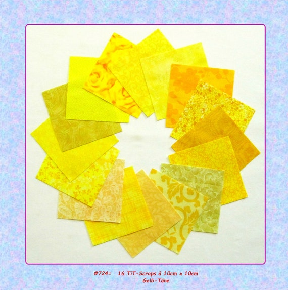 scraps yellow * 10x10 */* 7 5x7 5 */* 6x6 * od  * 5x5 * cm/tone-on-tone  fabric package patchwork quilting sewing Precuts fabric