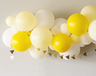 Sunshine Party Yellow Birthday Party Decorations Photo Backdrop Yellow Paper Garland long 10 ft Baby/'s First Birthday Yellow Wedding