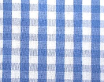 De coton vichykaro en bleu clair Tissu 0,5 m