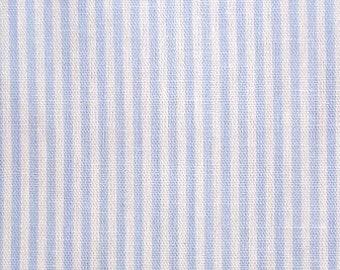 Cotton fabric Ecotex - stripes light blue and white - strip width 0.15 cm - fine stripes