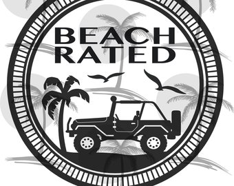 jeep beach etsy Trail Rated Logo jeep beach rated digital svg for vinyl