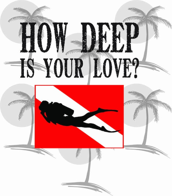 Digital SVG for Vinyl for any backgrounds How Deep Is Your Love