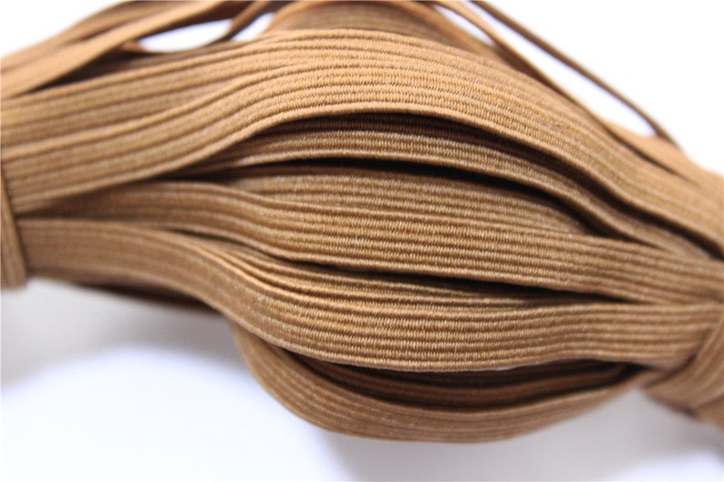 5 meters of elastic rubber band light brown 6mm