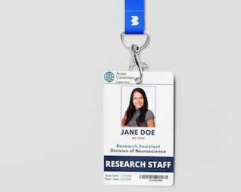 Id Card Template Etsy