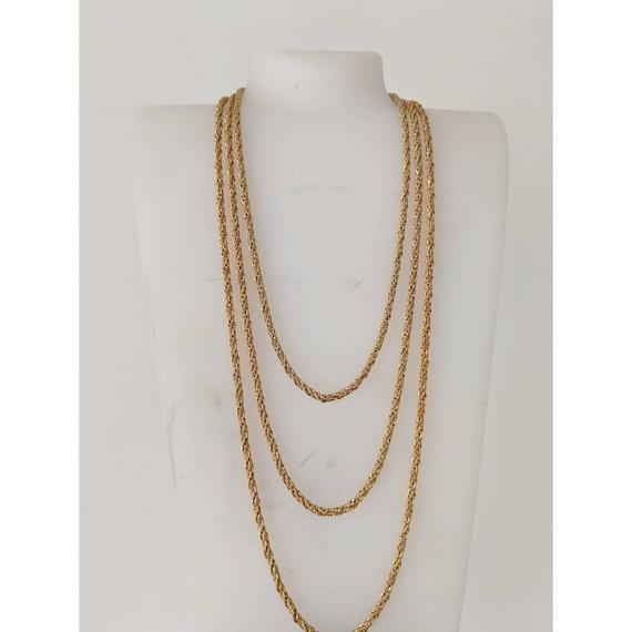 Vintage 3 Tier Goldtone Chain Necklace