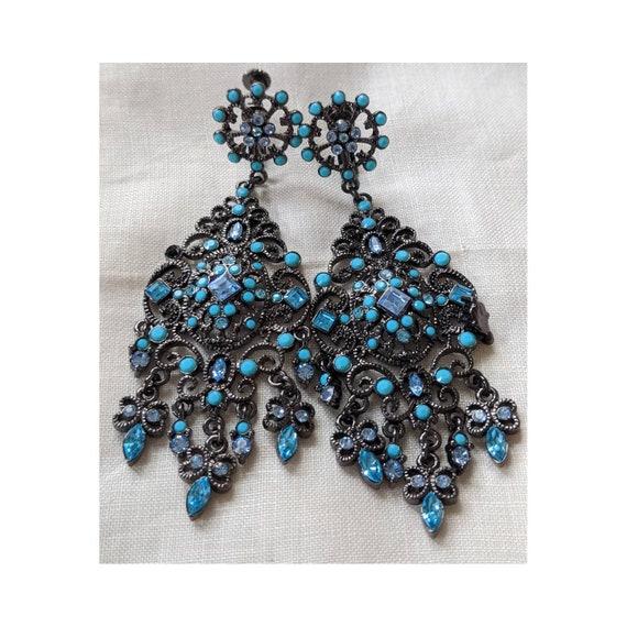Vintage Joan Rivers Chandelier Earrings