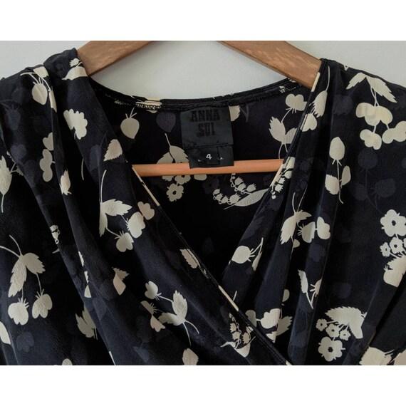 Vintage Anna Sui Silk Peplum Blouse - image 4