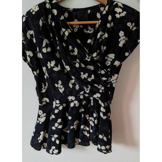 Vintage Anna Sui Silk Peplum Blouse - image 6