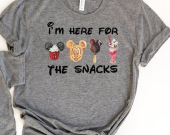 Im here for the snacks t-shirt. Magical place t-shirt! Family T-shirts! Family vacation shirt!