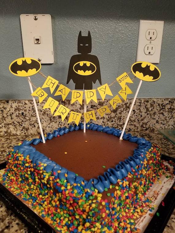 Miraculous Batman Birthday Cake Topper Etsy Personalised Birthday Cards Paralily Jamesorg