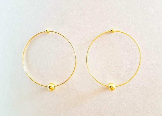 Ohrringe gold Ohrstecker Ohrschmuck Stab durchzieher Minimal Trend Boho T