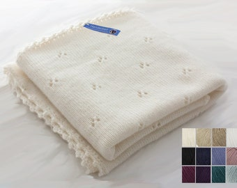 made of 100% finest cashmere - baby blanket made of cashmere in your desired color and size on order optional with name / cashmere wool baby