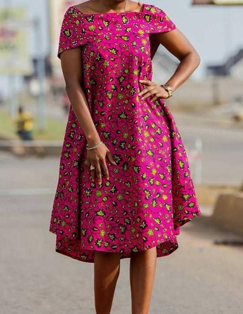 African Cape Dress Formal Dress Ankara Cape Dress Cape image 1
