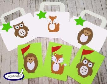 Bag bag WALD TIERE Children's birthday