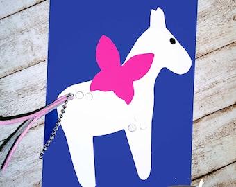 Invitation children's birthday fantasy horse