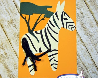 Invitation Zebra Zoo