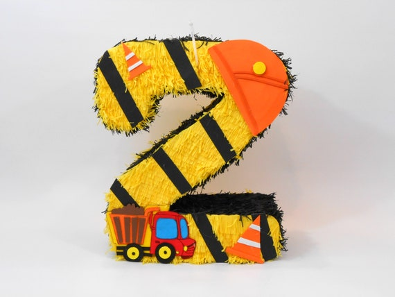 Tractor Birthday Party Pinata; Construction Theme Pinata; Party Decorations; Transportation Theme; Birthday Party Favors; Pinata decorations