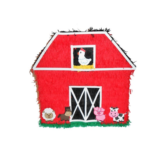 Farm Animals Pinata Farm Party Animales De Granja Etsy