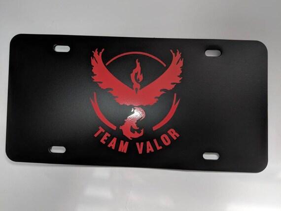 Pokemon Go Team Valor Plastic License Plate Holder Frames Vinyl Decal