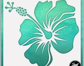 Hibiscus Flower 5 - Durable and reusable stencil for DIY painting, crafting and scrapbooking projects