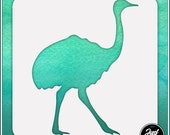 Ostrich 1 - Durable and reusable stencil for DIY painting, crafting and scrapbooking projects