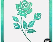 Rose 2 - Durable and reusable stencil for DIY painting, crafting and scrapbooking projects