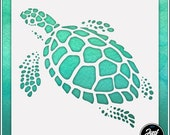 Turtle 3 - Durable and reusable stencil for DIY painting, crafting and scrapbooking projects