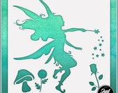Fairy 4 - Durable and reusable stencil for DIY painting, crafting and scrapbooking projects