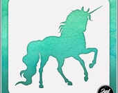 Unicorn 1 - Durable and reusable stencil for DIY painting, crafting and scrapbooking projects