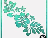 Hibiscus Flower 4 - Durable and reusable stencil for DIY painting, crafting and scrapbooking projects