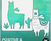 Llama 2 - Durable and reusable stencil for DIY painting, crafting and scrapbooking projects