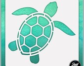 Turtle 1 - Durable and reusable stencil for DIY painting, crafting and scrapbooking projects
