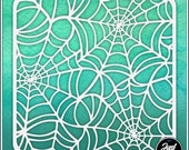 Spiderwebs 2 - Durable and reusable stencil for DIY painting, crafting and scrapbooking projects