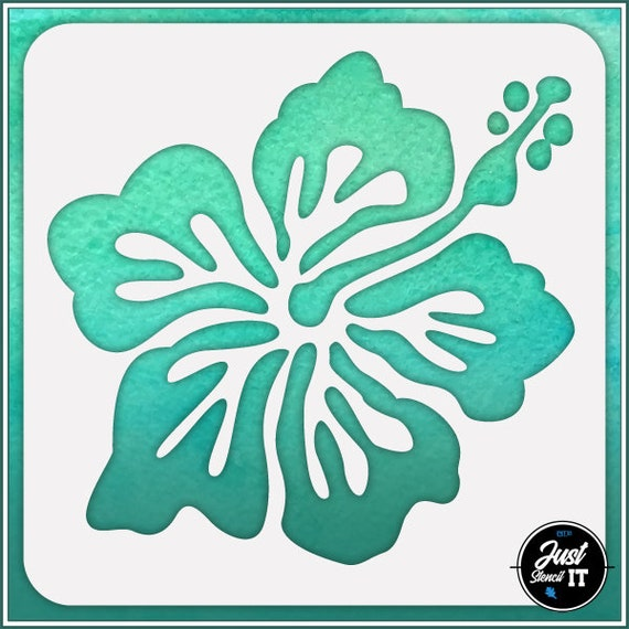 Hibiscus Flower #3 durable and reusable stencil for DIY painting /& crafts