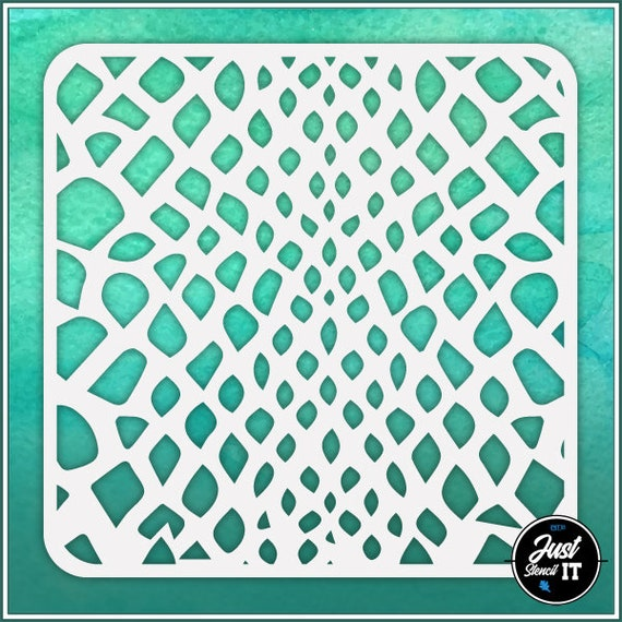 durable and reusable stencil for DIY painting /& crafts Snakeskin #1