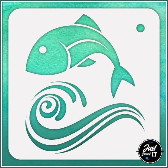 Koi Fish 1 durable and reusable stencil for DIY painting /& crafts