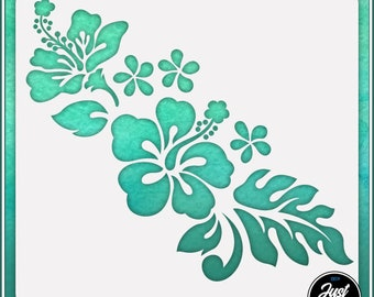 Hibiscus Flower #4 - Durable and reusable stencil for DIY painting, crafting and scrapbooking projects