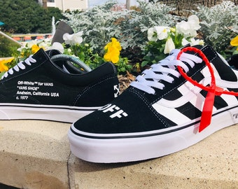 25e69ed83a84bf Custom Off-White Vans Old Skools