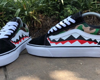 375690877e6 Custom Bape Vans Old Skool