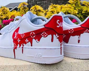 99c04ab09cc5 Custom Supreme Louis Vuitton Air Force 1
