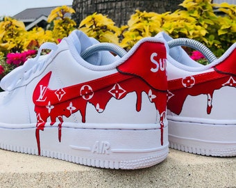 34fcffa95c01c5 Custom Supreme Louis Vuitton Air Force 1