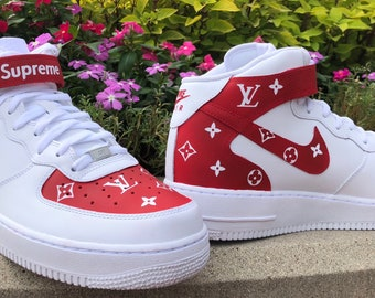 10ce6cde7ae5 Custom Supreme Louis Vuitton Mid Air Force 1
