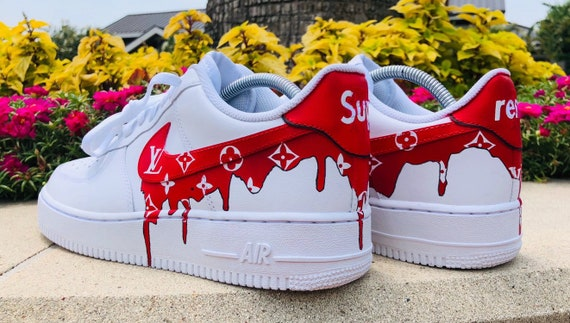 Custom Supreme Louis Vuitton Air Force 1  158b04803
