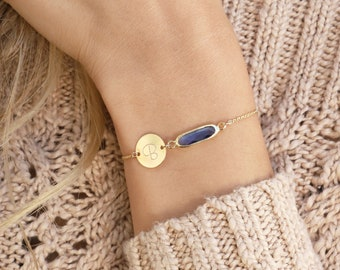 Custom Birthstone Bracelet, Initial Bracelet, Unbiological Sister Bracelets Birthstone Jewelry Birthday Gift Friendship Bracelet for Women