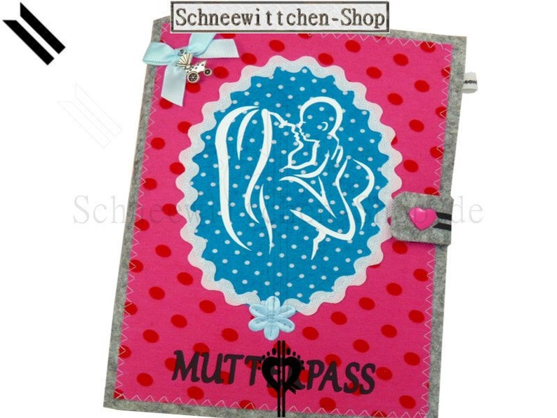 Maternity Pass Case Organiser Maternity Passport Cover with Closure for German Maternity Passport and Ultrasonic Vaccination Card Pocket