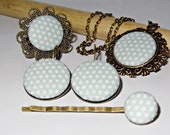 Vintage bronze Jewelryset made of fabric buttons