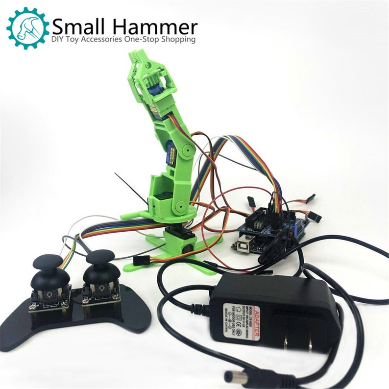 SNAM6000 3D printing four-degree-of-freedom robot arm DIY robot assembling  sg90
